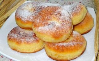 Пампушки на кефірі смажені на сковороді замість хліба рецепт з фото