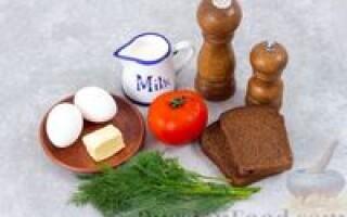 Яєчня з помідорами і хлібом рецепт