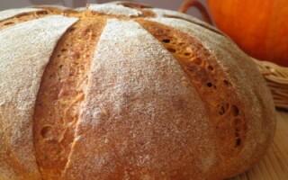 Рецепт гарбузового хліба на заквасці