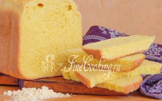 Кукурудзяний хліб в хлібопічці Панасонік рецепт
