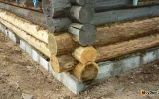як відремонтувати фундамент дерев'яного будинку без підйому