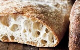 Хліб чіабатта в хлібопічці Мулинекс рецепти