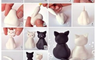 Як зробити кішку з пластиліну