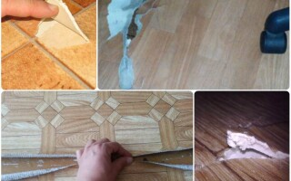 як відремонтувати лінолеум на підлозі