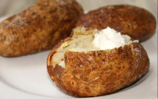 Картопля печена в шкірці калорійність