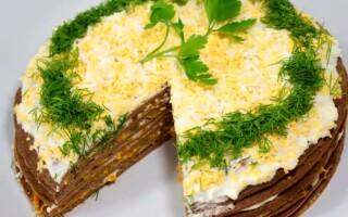 Як зробити печінковий торт