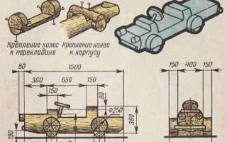 Як зробити машину з дерева