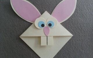 Як зробити зайця з паперу