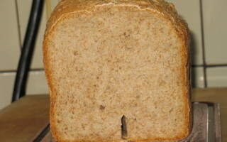 Хліб грубого помелу в хлібопічці рецепт
