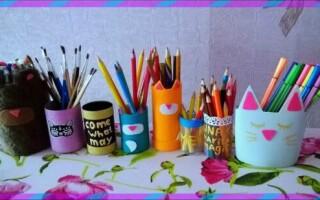 Як зробити підставку для олівців