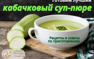 Суп пюре з кабачків і картоплі