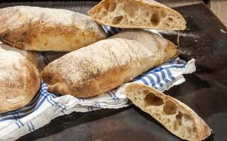 Рецепт хліба білого чіабатта на заквасці своєї