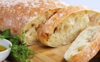 Італійський хліб без дріжджів рецепт