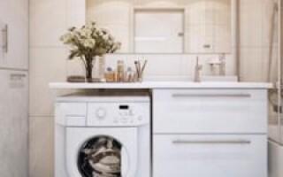 Як зробити стільницю у ванній під раковину і пральну машину