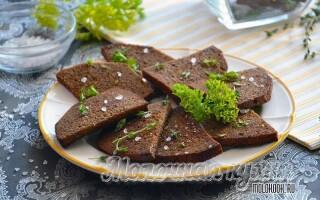 Як зробити грінки з чорного хліба