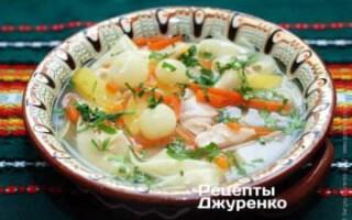 Суп м'ясний з брокколі і картоплею