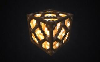 Як зробити лампу в майнкрафт