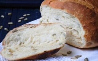Хліб з гарбузовим насінням рецепт