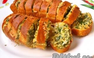 Часниковий хліб в духовці рецепт з батона