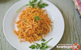 Салат з картоплі і корейської моркви