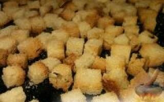 Кухня навиворіт сухарики з білого хліба в духовці рецепт