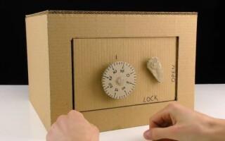Як зробити сейф з картону