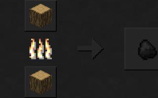 Як зробити деревне вугілля в майнкрафт
