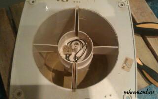 як полагодити вентилятор у ванній