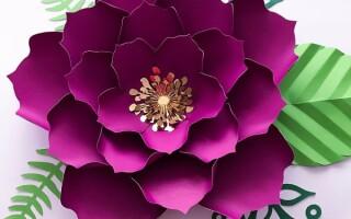 Як зробити об'ємні квіти з паперу