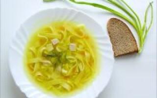 Суп курячий з вермішеллю і картоплею калорійність