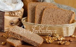 Хліб з волоськими горіхами в духовці рецепт з фото