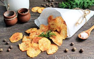 Чіпси з картоплі в мікрохвильовці