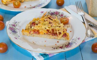 Піца з черствого хліба в духовці рецепт