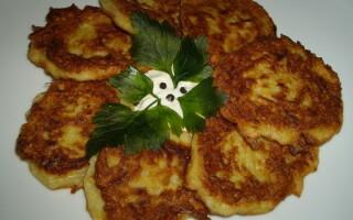 Оладки з картоплею на кефірі