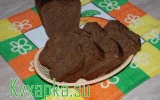 Житній хліб з солодом в духовці рецепт