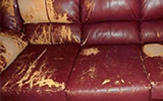 як відремонтувати штучну шкіру на дивані