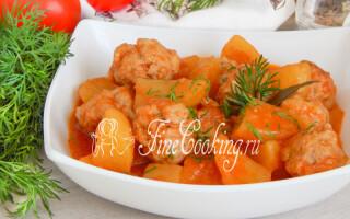 Картопля в томатному соусі