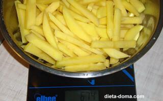Картопля смажена у великій кількості масла