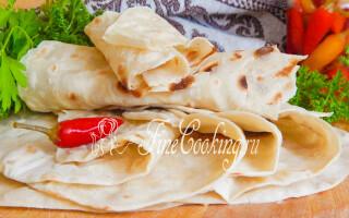 Рецепт хліба лаваша в домашніх умовах
