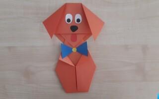 Як зробити орігамі собаку