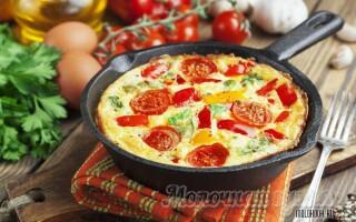 Як зробити омлет на сковороді з молоком і яйцем