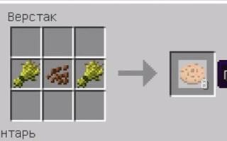 Як зробити печиво в майнкрафт