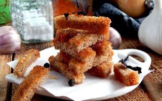 Кіріешкі в домашніх умовах в духовці з білого хліба рецепт з фото