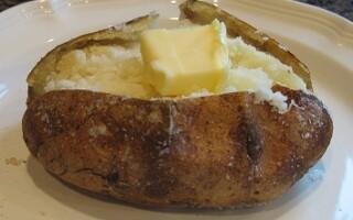 Печена картопля калорійність