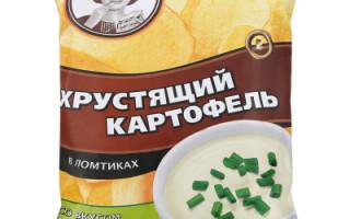 Чіпси хрустка картопля сметана та цибуля