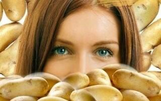 Маска з картоплі для обличчя