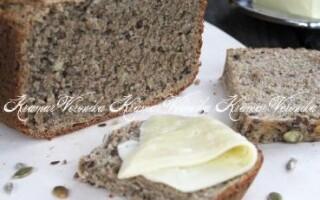 Рецепт хліба з насінням в хлібопічці