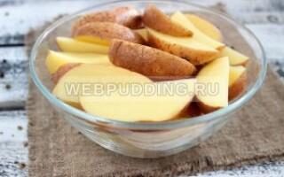 Картопля по селянськи в мікрохвильовці в пакеті