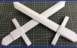 Як зробити меч з паперу