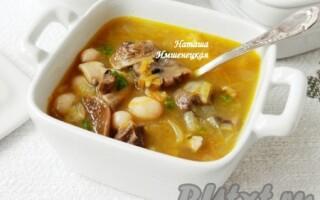 Суп з квасолею і картоплею